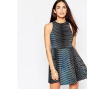 Girly Gestreiftes Kleid Blau