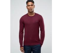 Pullover in Damson mit Rundhalsausschnitt Rot