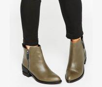 Flache Chelsea-Stiefel Grün