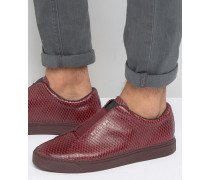 Sneaker in Schlangenlederoptik Rot