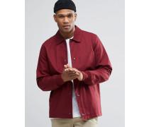 Burgunderrote Trainingsjacke aus Baumwolle Rot