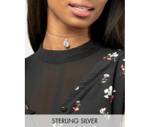 Collier aus Sterlingsilber mit Medaillon Silber
