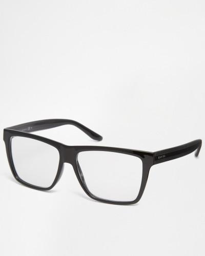 gucci herren brille mit eckigem rahmen in schwarz schwarz. Black Bedroom Furniture Sets. Home Design Ideas