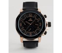 Oversize-Uhr mit achteckigem Zifferblatt Braun