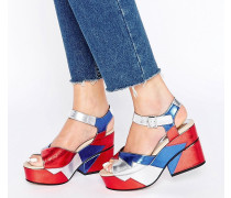 TOOT TOOT Breite Sandalen mit Plateauabsatz Mehrfarbig