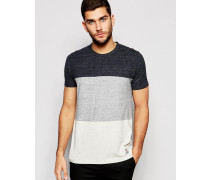 Franklin and Marshall T-Shirt mit Farbblockdesign Grau