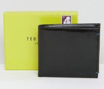 Brieftasche mit gemustertem Kartenfach innen Schwarz