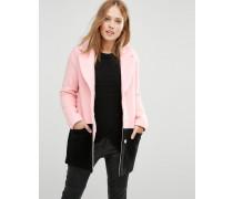 Mantel in Blockfarben Rosa