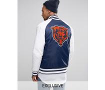 Chicago Bears Souvenir-Jacke, exklusiv bei ASOS Marineblau