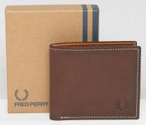 Braune Brieftasche aus Leder Braun