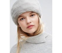 Stirnband aus Kunstpelz Grau