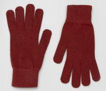 Leth Handschuhe Rot