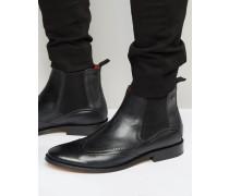 XXI Chelsea-Stiefel aus Leder Schwarz