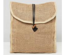 Strandrucksack aus Webstoff Bronze