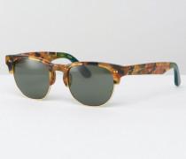 Lobamba Retro-Sonnenbrille Braun