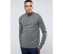 Pullover mit Rollkragen, in Grau Grau