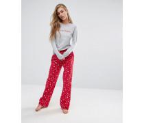 Christmas Holiday Schlafanzug in einer Geschenkbox Rot