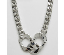 Halskette mit Handschellendesign Silber