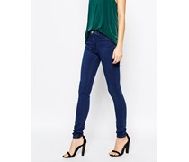Body Superskinny-Jeans mit hohem Bund Blau