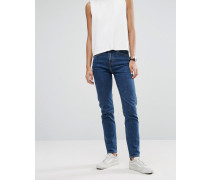 Seattle Mom-Jeans in Vintage-Waschung Blau