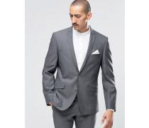 Camden Superschmale Anzugjacke in Charcoal Tonic Grau