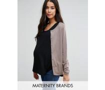 Mamalicious Maternity Strickjacke Grau