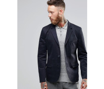 Enger Blazer aus Baumwolle in verwaschenem Marineblau Marineblau