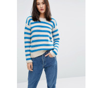 M.i.h Jeans Amorgas Gestreifter Pullover Cremeweiß