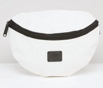 Gürteltasche in Weiß aus perforiertem Stoff Weiß