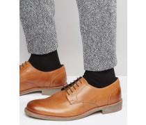 Derby-Schuhe aus hellbraunem Leder Beige