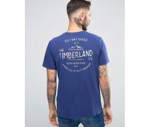 Kennebec T-Shirt mit Berglogo hinten Blau