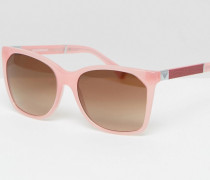 Eckige Sonnenbrille in Rosa Rosa