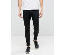 Schwarze Skinny-Jeans Schwarz