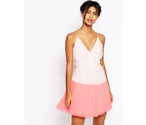 Minikleid in Blockfarben Rosa
