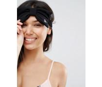 Augenmaske mit Zierschleife Schwarz