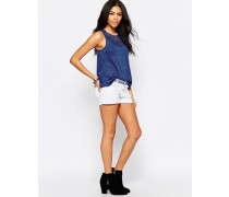 Jeans-Shorts mit Verzierungen Weiß