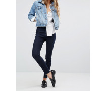 Jessica Alba X DL No.2 Hautenge, knöchellange Hose mit ultrahohem Bund Blau