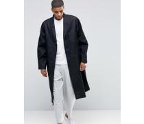 Mantel aus Denim in dunkelblauer Waschung Blau