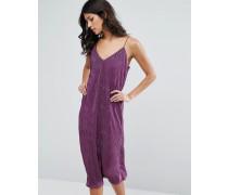 Midi-Trägerkleid aus Lurex Violett