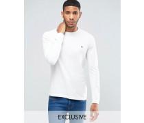 Dunsford Langärmliges T-Shirt in Weiß Weiß