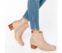 Luan Ankle Boots mit mittelhohem Absatz in Schildpattoptik Beige