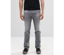 Buster 853T Gerade geschnittene Jeans in verwaschenem Grau Grau
