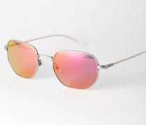 Sonnenbrille mit verspiegelten Gläsern Orange