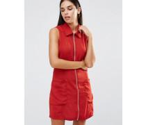 Kleid mit Reißverschlusstasche Rot
