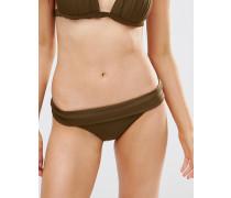 Bikinihose mit goldfarbenen Seitenträgern Grau