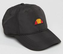 Dad-Cap aus Nylon mit kleinem Logo Schwarz