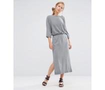 Kleid mit Tunnelzug Grau