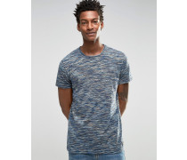 T-Shirt mit Spacedye-Muster Marineblau