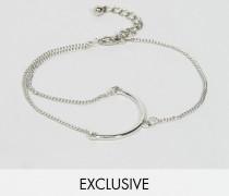 Exklusives Armband mit Ketten- und Stegelement Gold
