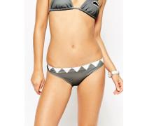 Bikinihose mit Haifischzahnmotiv Grau
